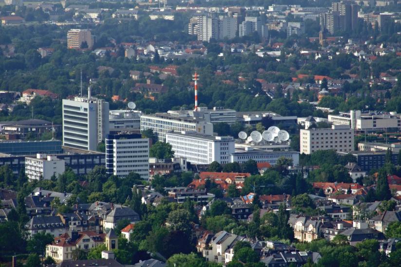 Hessischer Rundfunk mit ARD-Stern in Frankfurt