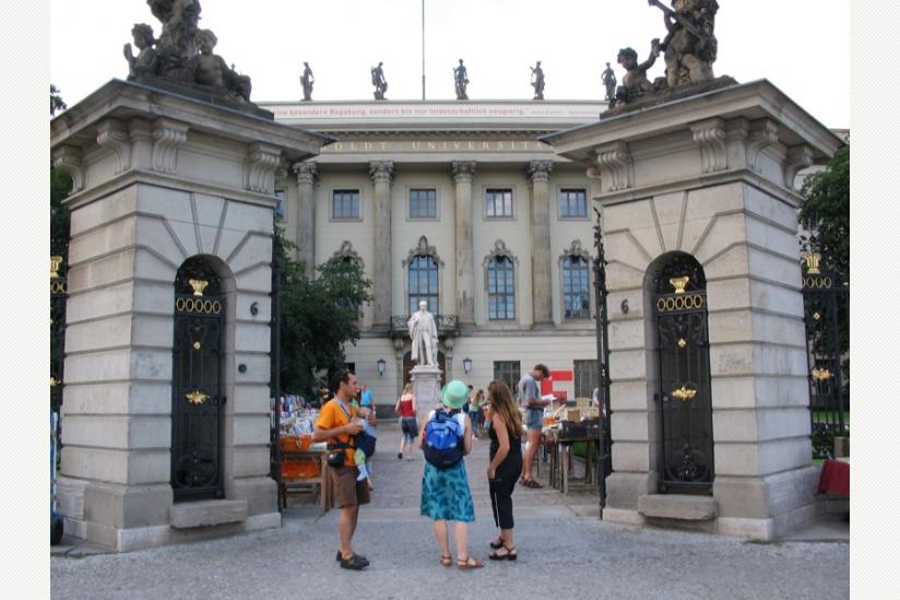 Eingang der Humboldt Universität