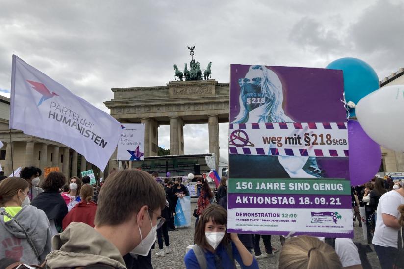 Demonstration des Bündnisses für sexuelle Selbstbestimmung
