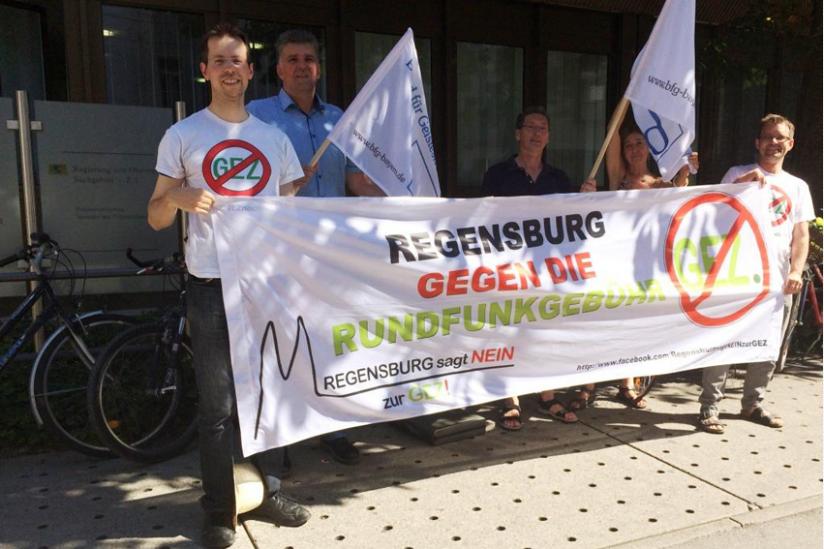 Seine Solidarität zeigte der BfG Regensburg, der die Rundfunkgebühren grundsätzlich ablehnt.