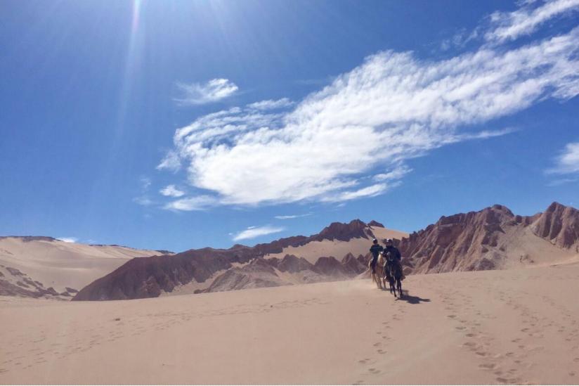 Ritt durch die Atacama-Wüste.