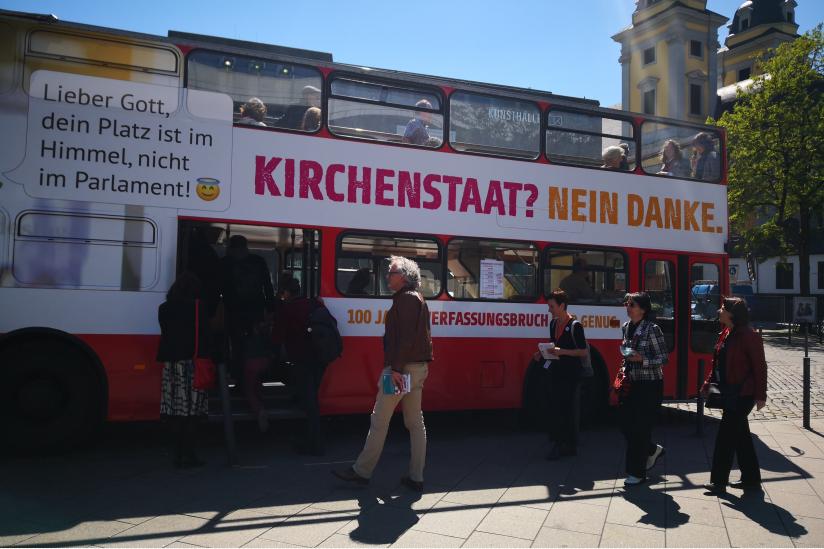 Der Bus in Düsseldorf