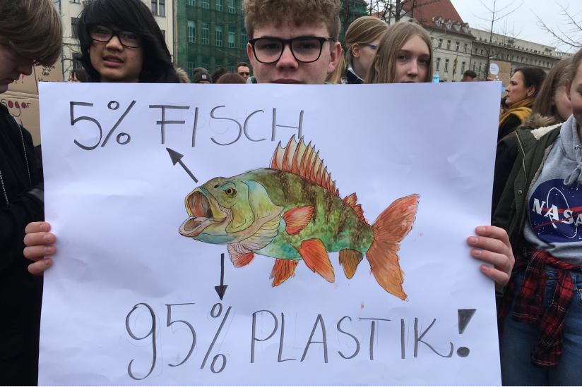 Schülerprotest gegen die Untätigkeit angesichts des Klimawandels