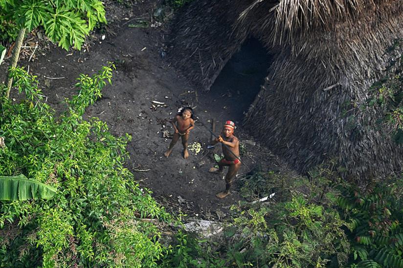 Sichtung einer isolierten Gruppe beim Überfliegen des brasilianischen Bundesstaates Acre (2012)