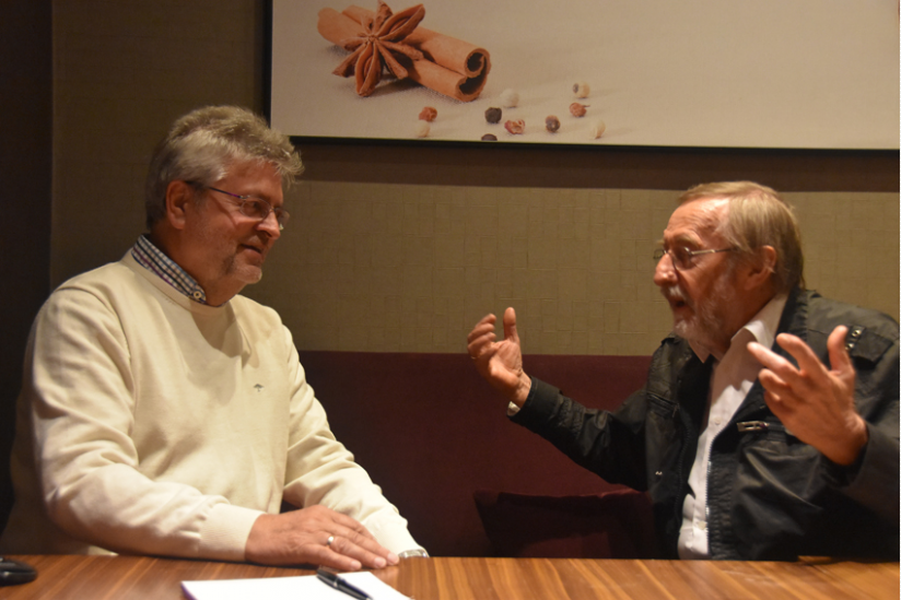 Manfred Isemeyer und Andrzej Wendrychowicz im Gespräch