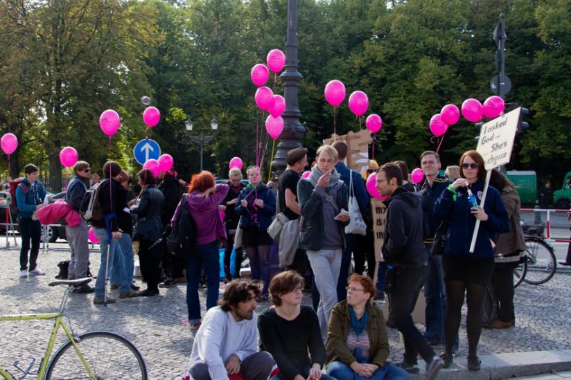 Irische Aktivisten in Berlin