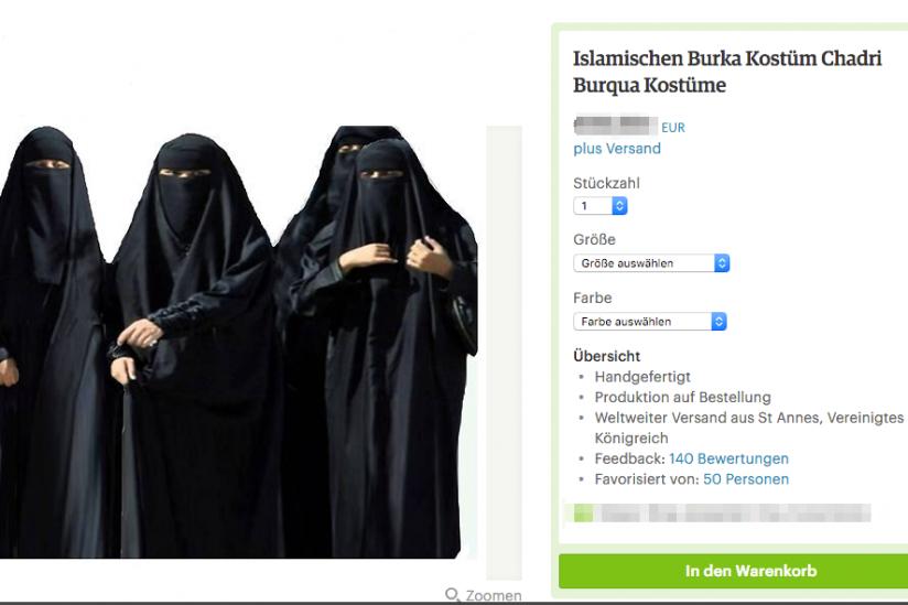 Kein Witz: Burka als Faschingskostüm