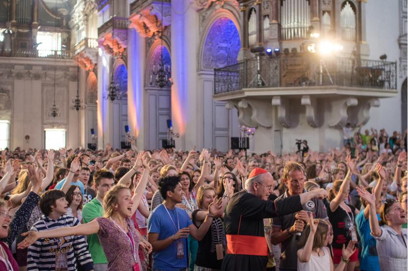 Wird seltener: Jubelnde Jugend in der Kirche