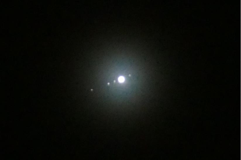 Der Jupiter mit 4 Monden