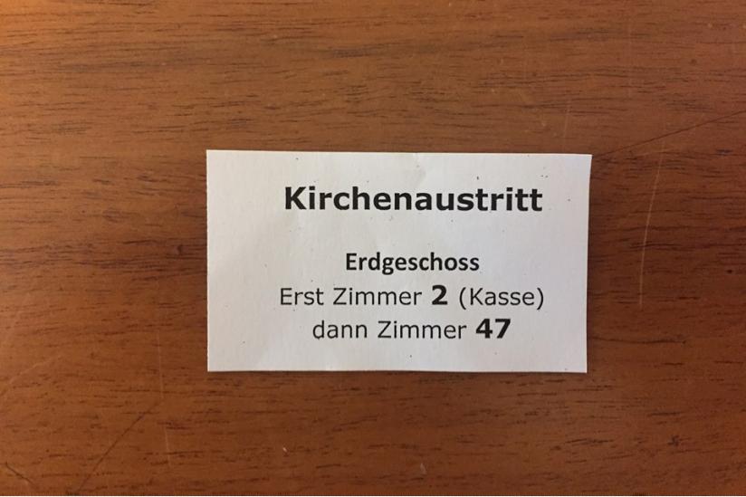 Kirchenaustritt im Amtsgericht Köln