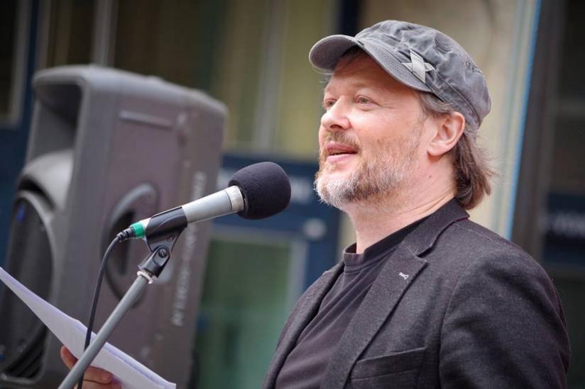 Michael Schmidt-Salomon bei seiner Rede in Köln