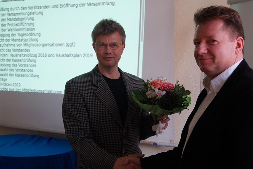 Helmut Fink (li.) und Rainer Rosenzweig (re.)