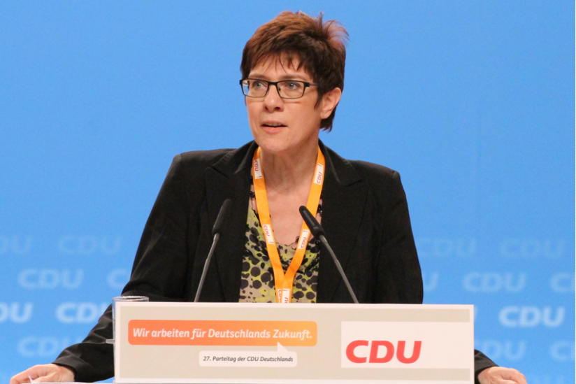Kramp-Karrenbauer, 2014, auf dem CDU Bundesparteitag in Köln