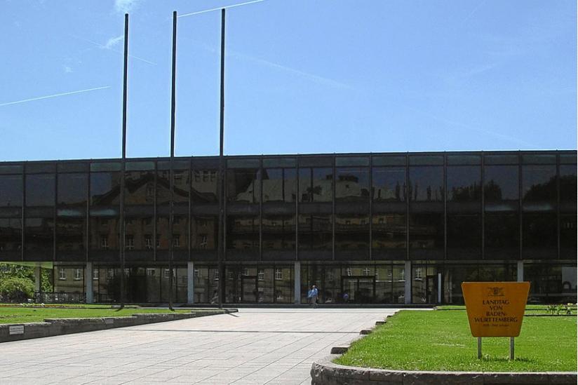 Das Landtagsgebäude von Baden-Württemberg in Stuttgart