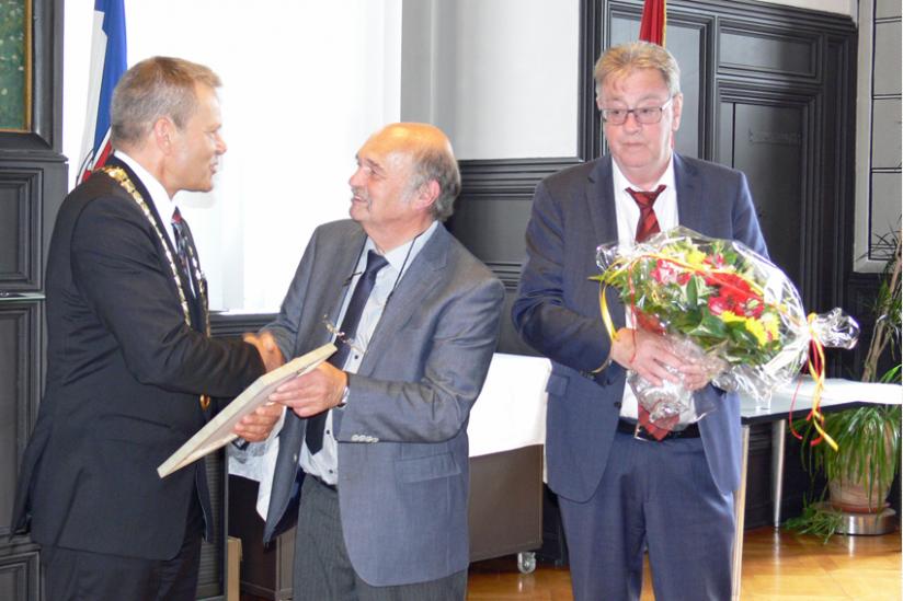 Preisübergabe durch Dr. Thomas Spies, Oberbürgermeister von Marburg