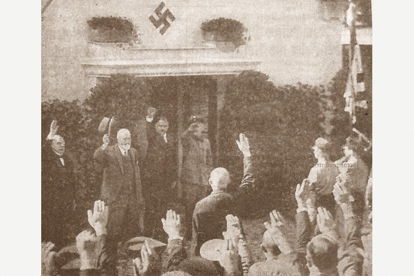 Geburtstagsfeier für Ludwig Heck unterm Hakenkreuz, 1935