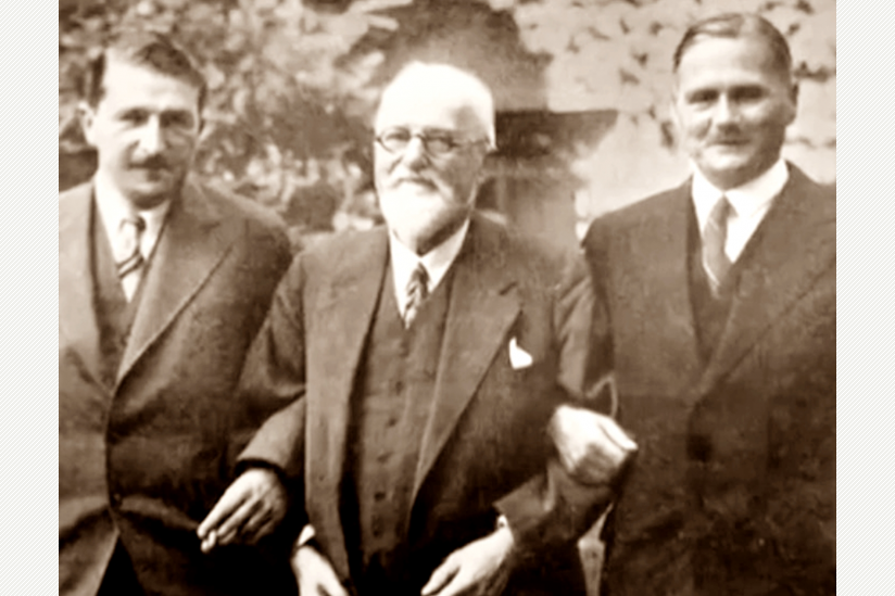 Ludwig Heck mit seinen Söhnen Heinz (li) und Lutz (re)