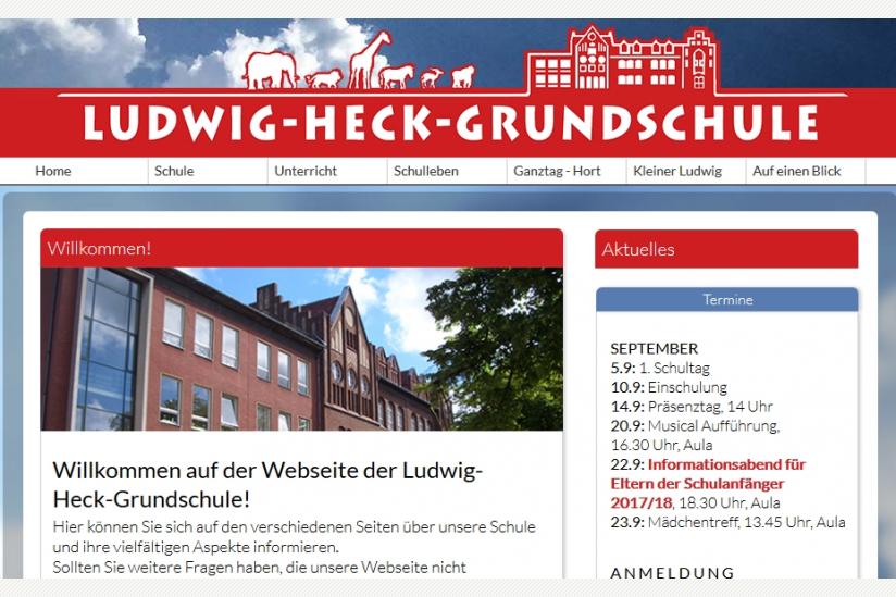 Internetauftritt der Ludwig-Heck-Schule, Berlin