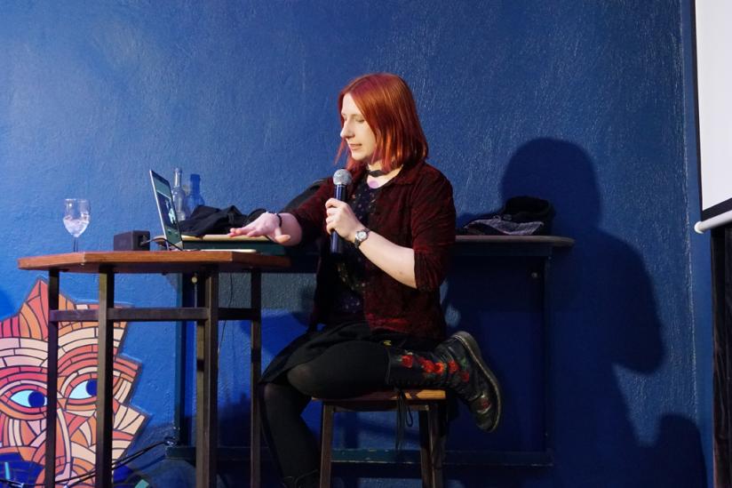 "Kriminalpsychologin Lydia Benecke bei ""Skeptics in the Pub"""
