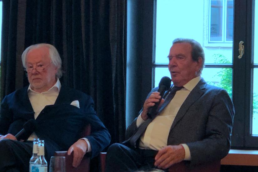 Manfred Bissinger und Gerhard Schröder