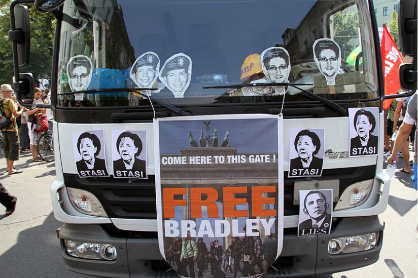 Demo für Manning und Snowden