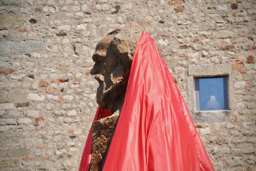 Enthüllung des Marx-Denkmals in Trier