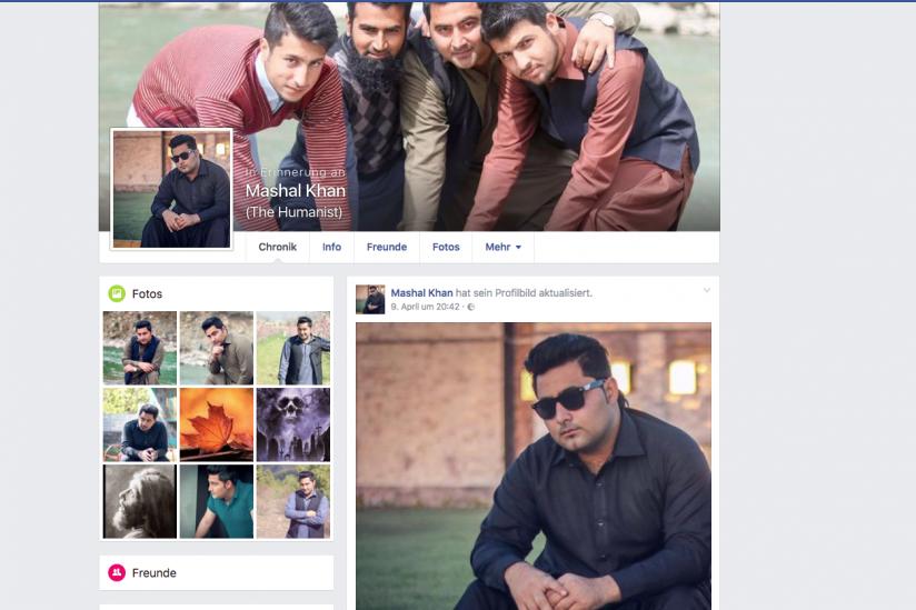 Facebook-Erinnerungsseite