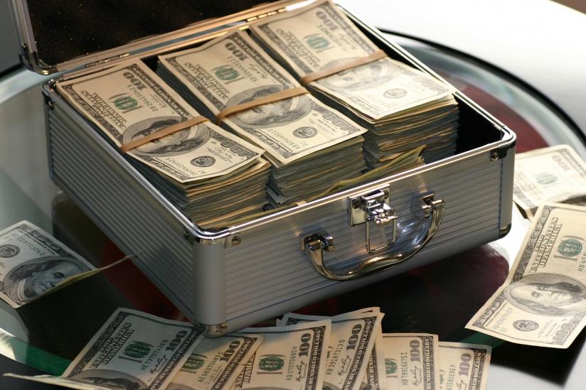 Koffer voll Geld