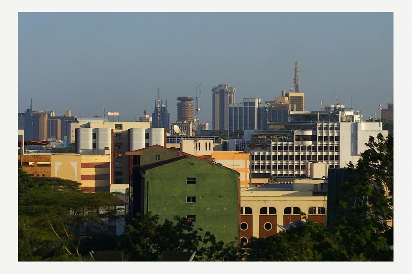 Blick über Nairobi