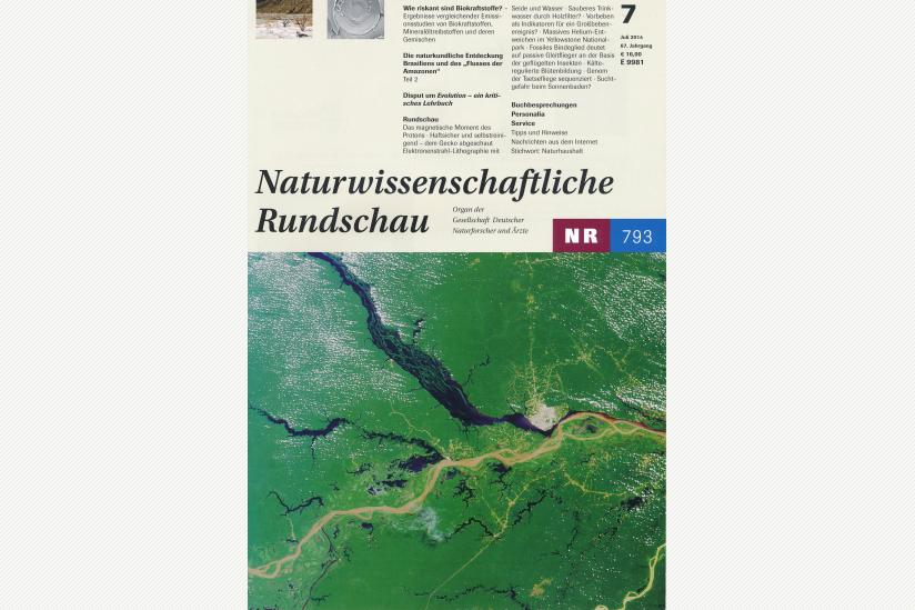 Naturwissenschaftliche Rundschau Heft 7/2014 (Cover)