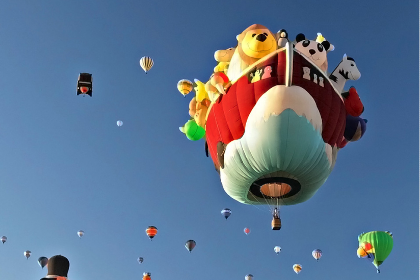 Alle Tiere fliegen hoch. Besucherzahlen auch gern mal.