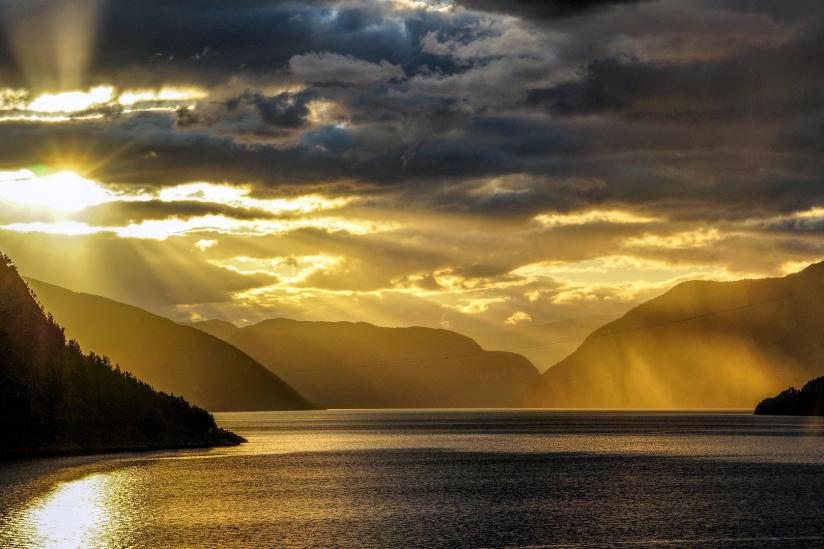 Fjord in Norwegen.