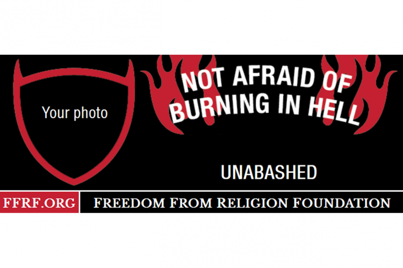 Not afraid of burning in hell