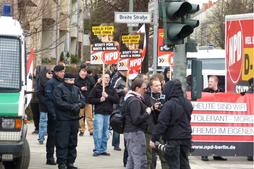 NPD-Kundgebung in Berlin-Pankow