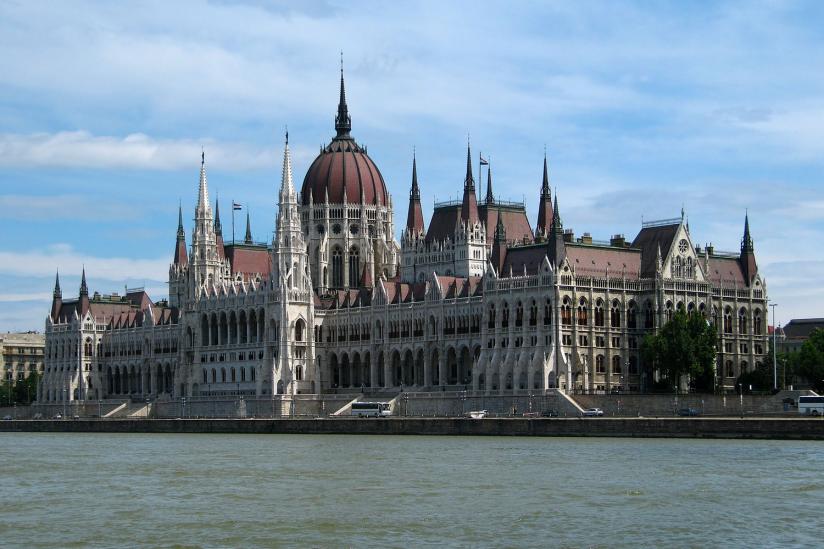 Das Parlamentsgebäude in Budapest.