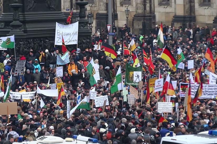 Pegida-Demonstration am 25. Januar 2015 in Dresden