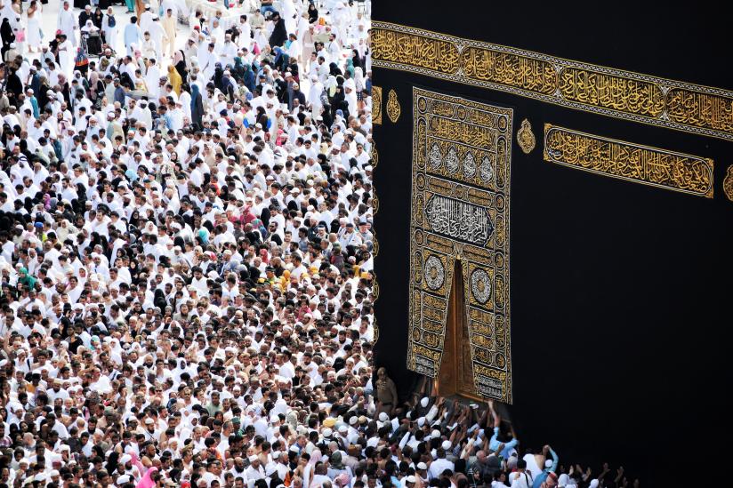 Menschengedränge um die Kaaba