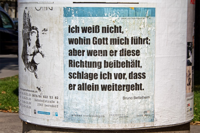 Plakat in Wien, Foto: © Frank Nicolai