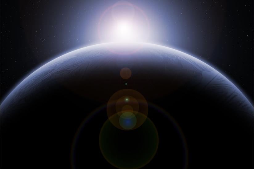 Planet mit Sonne