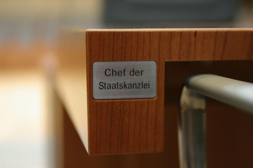 Innenbereich des Plenarsaals Landtag Nordrhein-Westfalen