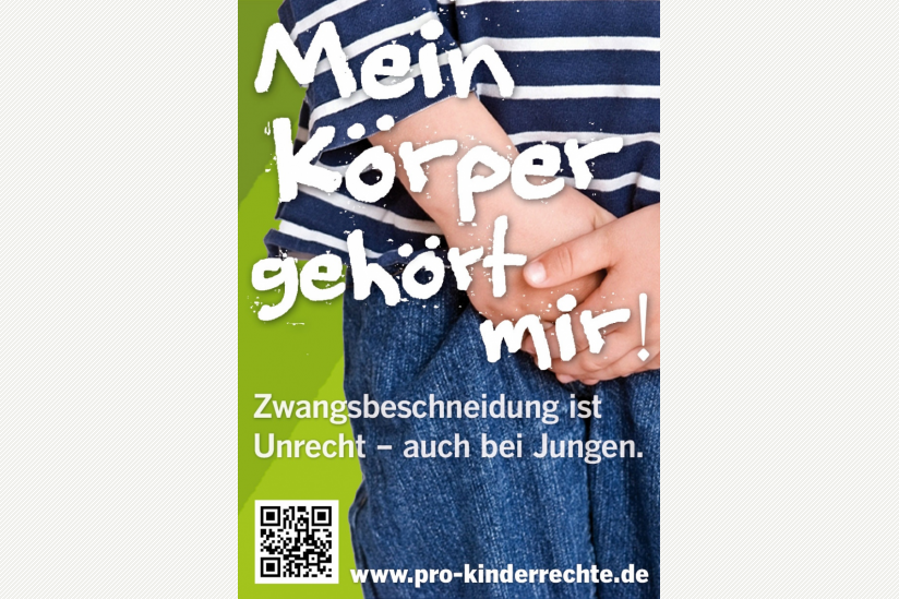 Plakat der Kinderrechts-Kampagne, © Giordano Bruno Stiftung