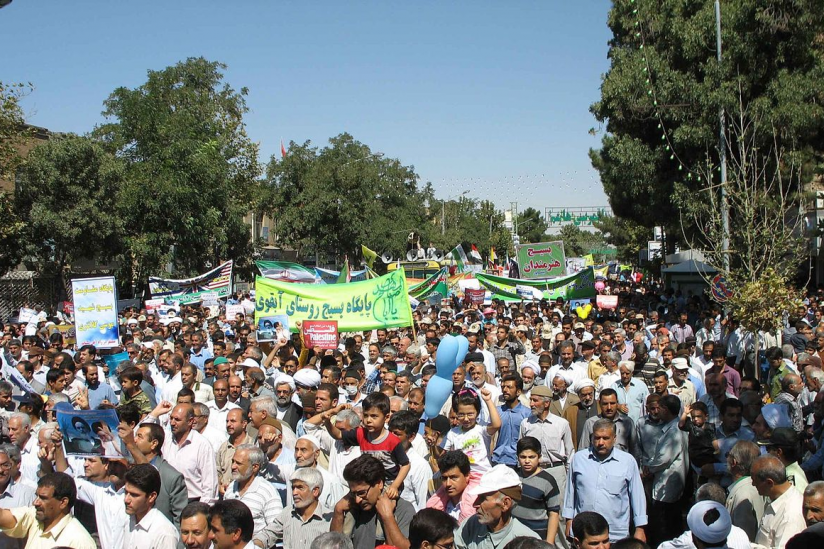 Demonstration am al-Quds-Tag in Nischapur 2011