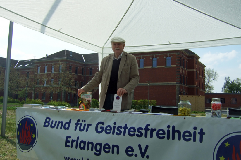 Der Autor am Stand des BfG Erlangen