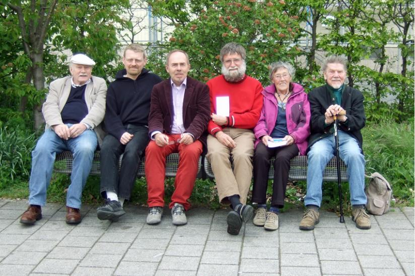 Die Aktivisten zusammen mit Erwin Schmid (3. v. r.)