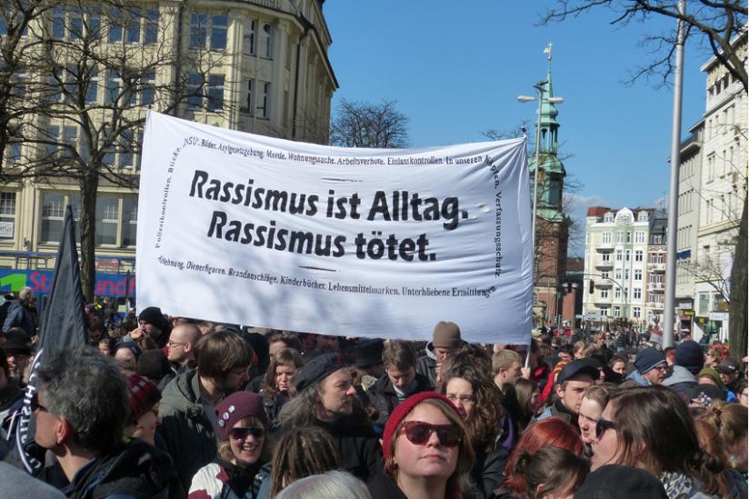 Demo gegen Rassismus und Ausgrenzung in Hamburg