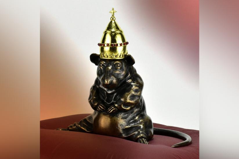 """""""Der Rattenfänger"""" (Bronze von K.+M.Valverde, 2019)"""