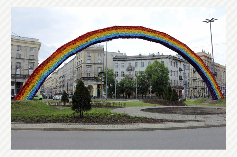 Regenbogen in Warschau