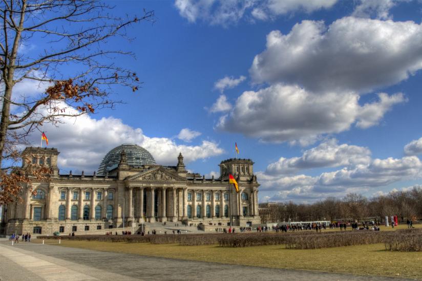Reichstagsgebäude in Berlin, Sitz des Deutschen Bundestags