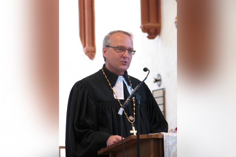 Bischof Carsten Rentzing am 11. Juni 2017 im Dom zu Wurzen
