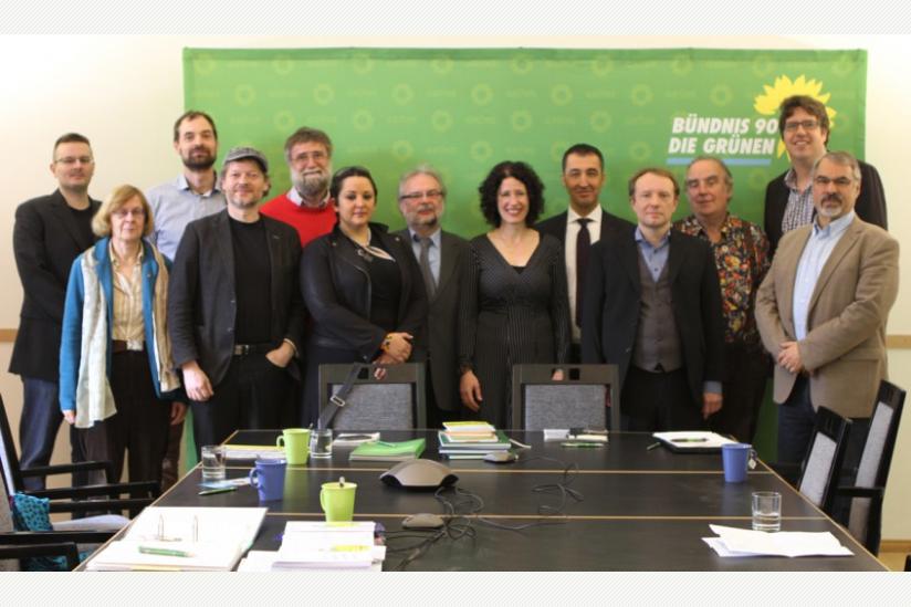 Präsidium von B90/Die Grünen und die Spitzen der säkularen Vereine/Verbände
